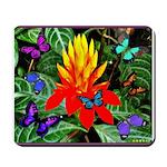 Hawaiian Torch Heliconia & Butterflies Mousepa