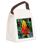 Hawaiian Torch Heliconia & Butterflies Canvas Lunc