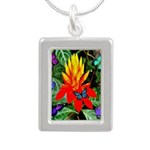 Hawaiian Torch Heliconia & Butterflies Silver