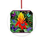 Hawaiian Torch Heliconia & Butterflies Ornamen