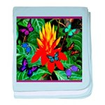 Hawaiian Torch Heliconia & Butterflies baby blanke