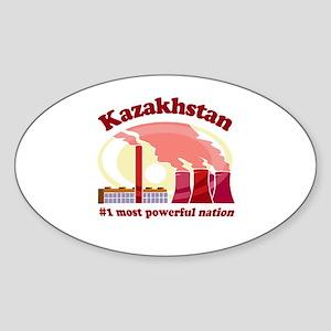 Kazakhstan Power - Oval Sticker