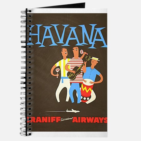 Havana, Cuba, Travel, Vintage Poster Journal