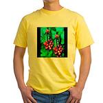 Mystic Hawaiian Banana Flower Yellow T-Shirt