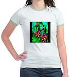 Mystic Hawaiian Banana Flower Jr. Ringer T-Shirt
