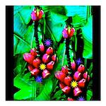 Mystic Hawaiian Banana Flower Square Car Magnet 3&