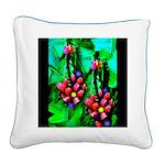 Mystic Hawaiian Banana Flower Square Canvas Pillow