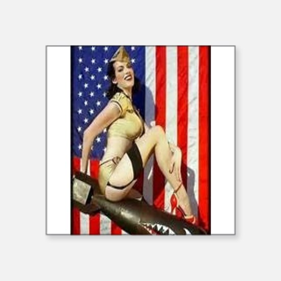 2 Military Pin Ups Sticker