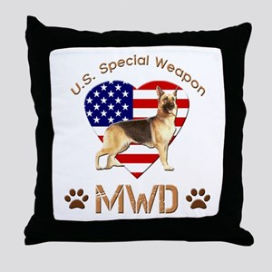 U.S. Special Weapon MWD Throw Pillow