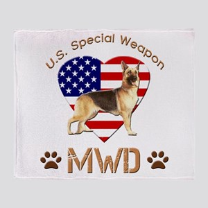 U.S. Special Weapon MWD Throw Blanket