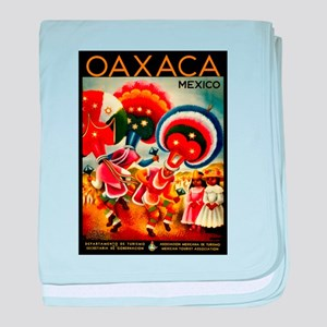 Vintage Oaxaca Mexico Travel baby blanket