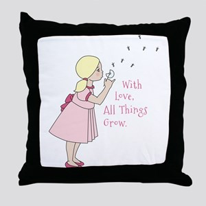 All Things Grow Throw Pillow