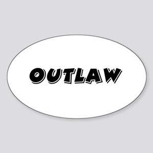 Outlaw Band Oval Sticker