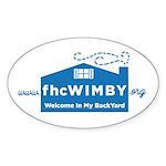 3 X 5 Oval 10 Pack (wimby) Logo Sticker