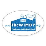 3 X 5 Oval (wimby) Logo Sticker