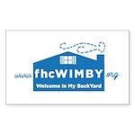 3 X 5 (wimby) Logo Sticker