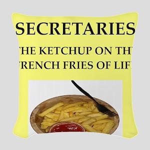 secretary Woven Throw Pillow