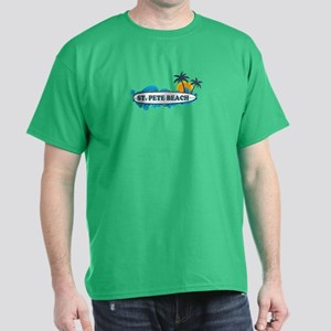 St. Pete Beach - Surf Design. Dark T-Shirt