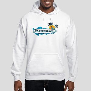 St. Pete Beach - Surf Design. Hooded Sweatshirt