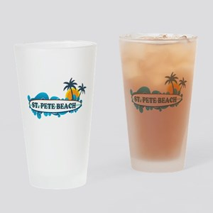 St. Pete Beach - Surf Design. Drinking Glass