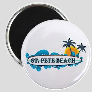St. Pete Beach - Surf Design. Magnet