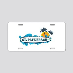 St. Pete Beach - Surf Design. Aluminum License Pla