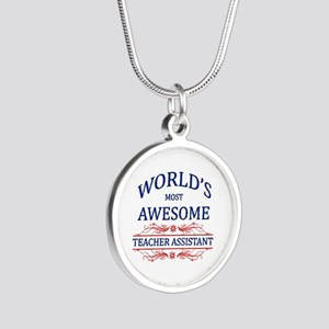World's Most Awesome Teacher's Assistant Silver Ro