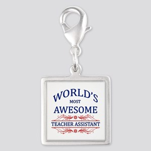 World's Most Awesome Teacher's Assistant Silver Sq