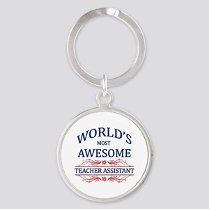 World's Most Awesome Teacher's Assistant Round Key