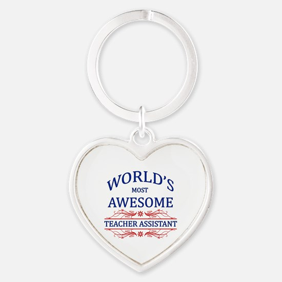 World's Most Awesome Teacher's Assistant Heart Key