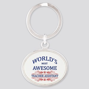 World's Most Awesome Teacher's Assistant Oval Keyc