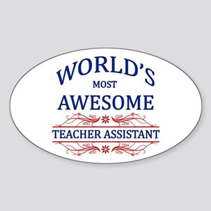 World's Most Awesome Teacher's Assistant Sticker (
