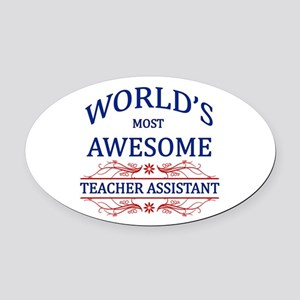World's Most Awesome Teacher's Assistant Oval Car