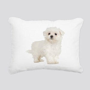 Maltese Rectangular Canvas Pillow