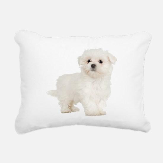 Maltese Rectangular Canvas Pillow