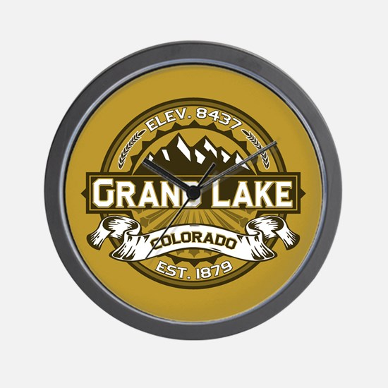 Grand Lake Gold Wall Clock