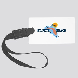 St. Pete Beach - Map Design. Large Luggage Tag