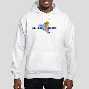 St. Pete Beach - Map Design. Hooded Sweatshirt