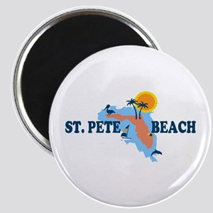 St. Pete Beach - Map Design. Magnet