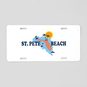 St. Pete Beach - Map Design. Aluminum License Plat