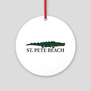 St. Pete Beach - Alligator Design. Ornament (Round