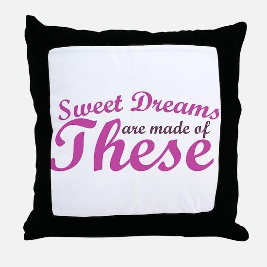 Sweet Dreams of BOOBS Throw Pillow