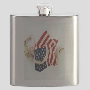 4 military Pin Ups Flask