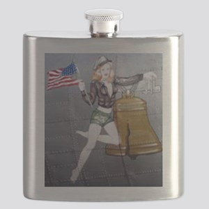 1 Military Pin Ups Flask