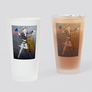 1 Military Pin Ups Drinking Glass