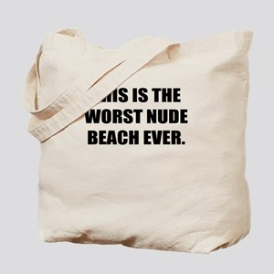 THIS IS THE WORST NUDE BEACH EVER Tote Bag