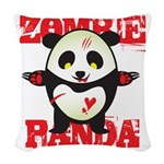 Zombie Panda Woven Throw Pillow