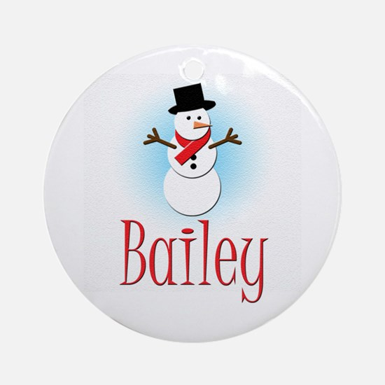 Snowman - Bailey Ornament (Round)