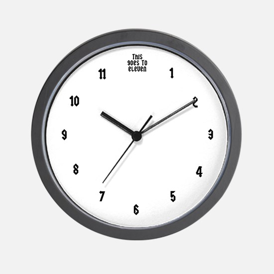 This Goes To Eleven Spinal Tap Wall Clock