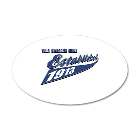 Established in 1913 20x12 Oval Wall Decal